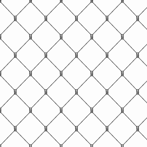 Mesh Net Pattern | Black and White Collection fabric by mkokolo on Spoonflower - custom fabric