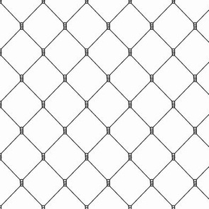 Mesh Net Pattern | Black and White Collection
