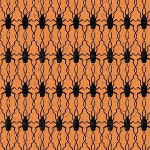 Halloween Creepy Cockroaches in Orange