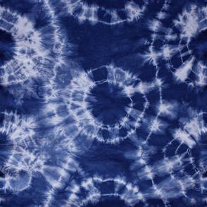 Shibori Indigo dyed fabric