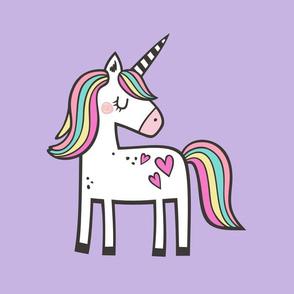 Unicorn & Hearts Rainbow Pillow Plush Plushie Softie Cut & Sew