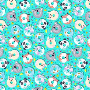 Animal Donut Confetti (Aqua)