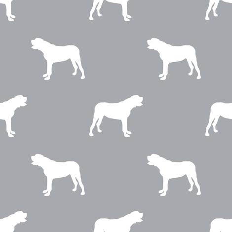 english mastiff dog silhouette fabric - dog, dogs, dog breed, english mastiff, dog breed fabric - grey fabric by petfriendly on Spoonflower - custom fabric