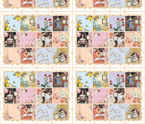 Beautiful Life Cheater Quilt fabric by lilyoake on Spoonflower - custom fabric