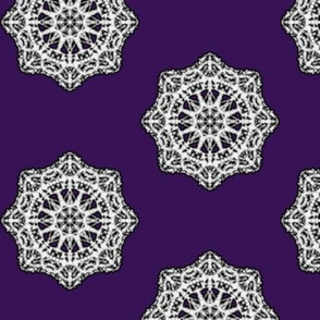 Heirloom Lace Doilies on Dark Mulberry