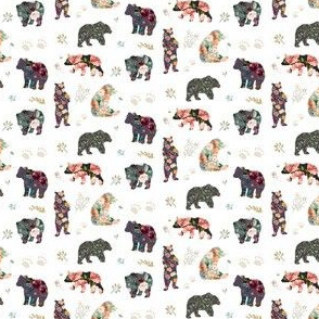 "2"" Patchwork Bears Floral"