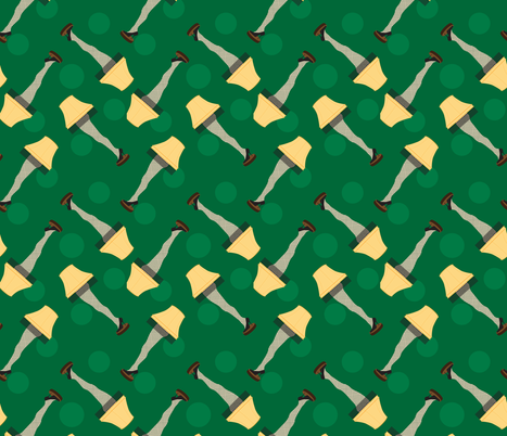 Leg Lamp Christmas Pattern Dots Green Retro fabric by furbuddy on Spoonflower - custom fabric