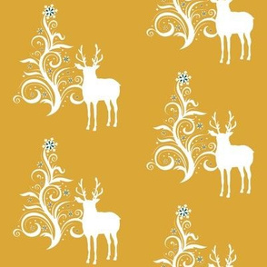 Buck with stylized tree Gold