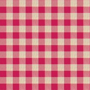 1950s Red and Cream Checks