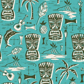 Tropical Tiki - Aqua