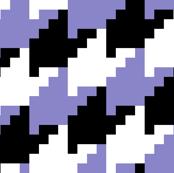 white black lavender houndsotooth