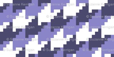 purple lavender houndstooth