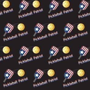 Pickleball Patriot Angled Black Background