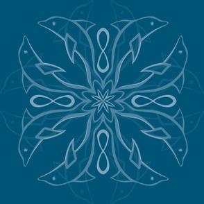 YourStory dolphin mandala dark blue