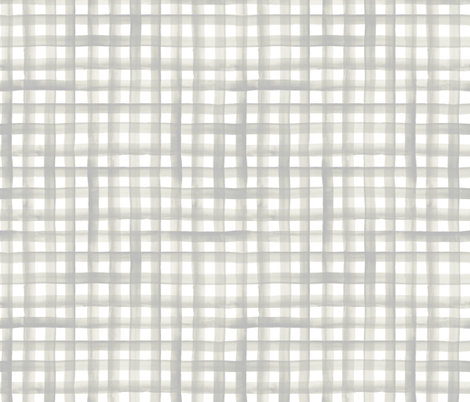 watercolor plaid-soft gray sage fabric by crystal_walen on Spoonflower - custom fabric