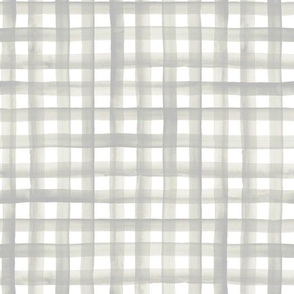 watercolor plaid-soft gray sage