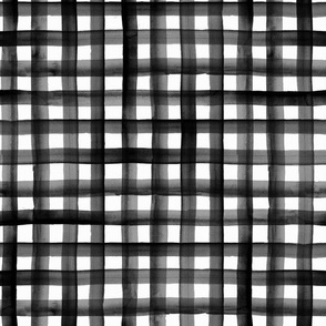 watercolor plaid-BW