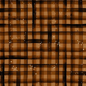 watercolor plaid-amber sparkle