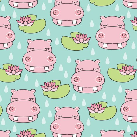 Rrrhippos-and-water-lilies-on-blue_shop_preview