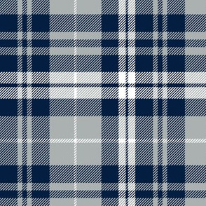 fall plaid || navy, grey, white