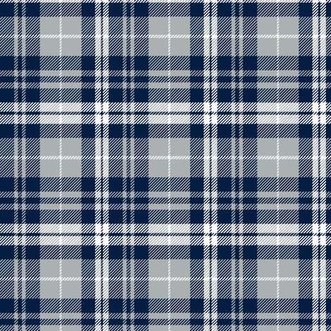 (small scale) fall plaid || navy, grey, white fabric by littlearrowdesign on Spoonflower - custom fabric