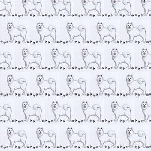 samoyed dog-small print