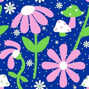 60's Mushrooms + Daisies