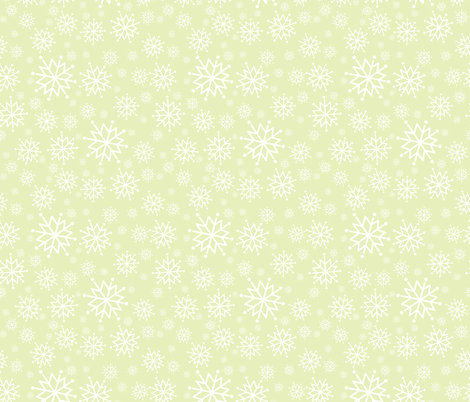 SnowflakeComp_EcruBg fabric by 907north on Spoonflower - custom fabric
