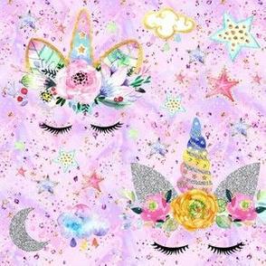 unicorn confetti pink/lilac glitter