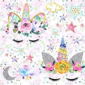 unicorn confetti white glitter sparkles