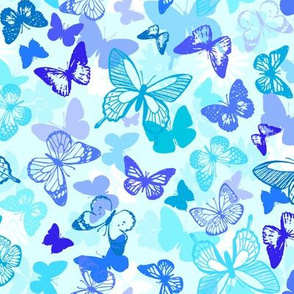 Packed Butterflies blue