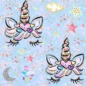 unicorn hearts aqua