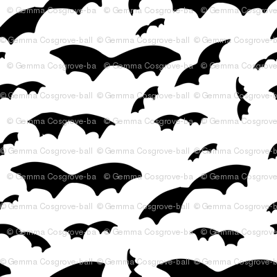Black and white bats (small scale)
