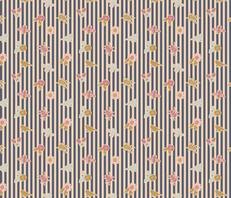 Garden badges blue fabric by helena_nilsson on Spoonflower - custom fabric