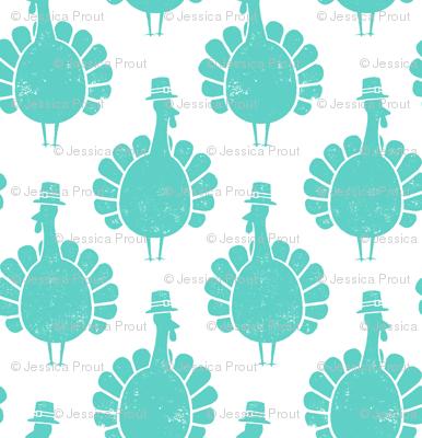 Turkeys - teal