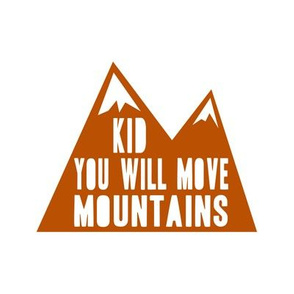"8"" quilt block - you will move mountains"