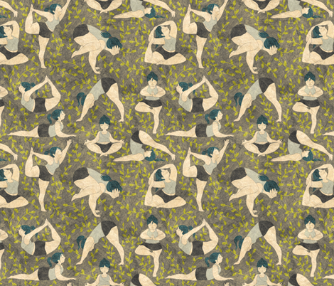 yogabrown2 fabric by gaiamarfurt on Spoonflower - custom fabric