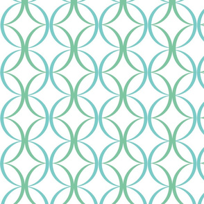 Green and Blue Circle pattern