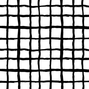 LARGE - grid (2) simple black and white classic design
