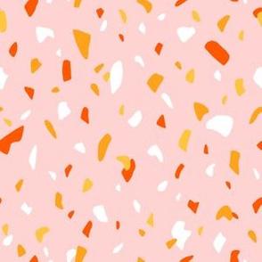 Terrazzo texture pink pattern