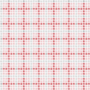 Trois Allumettes Plaid II in Rose Red Oyster