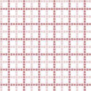 Trois Allumettes Plaid III in Rose Red