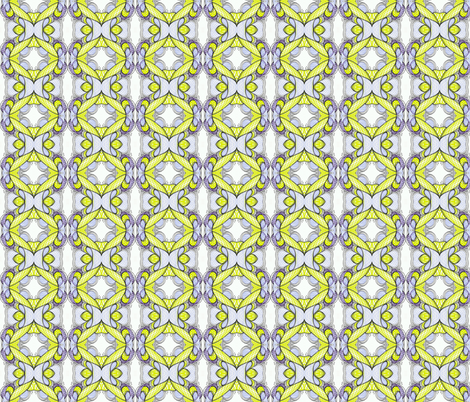 Gingham lemon fabric by unclemamma on Spoonflower - custom fabric