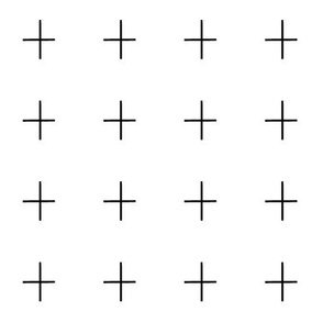 """2"""" Swiss Cross Plus Sign Pattern 