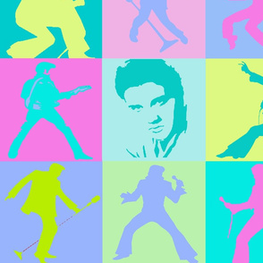 Elvis in 50's Colors
