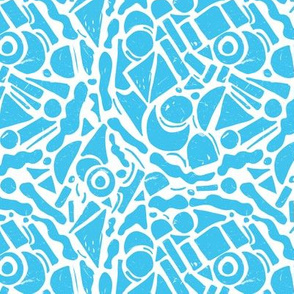 Abstract Paper Cutouts Light Blue