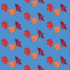 Patricia's leaves-French blue-ch