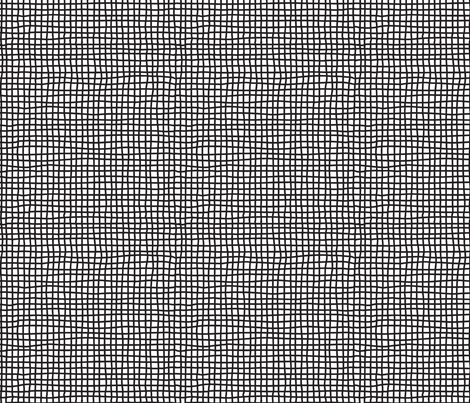 Hand Drawn Thin Criss Crossing Lines | Black and White Collection fabric by mkokolo on Spoonflower - custom fabric