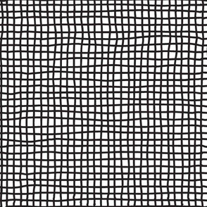 Hand Drawn Thin Criss Crossing Lines | Black and White Collection