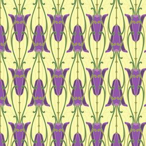 purple art nouveau lilies